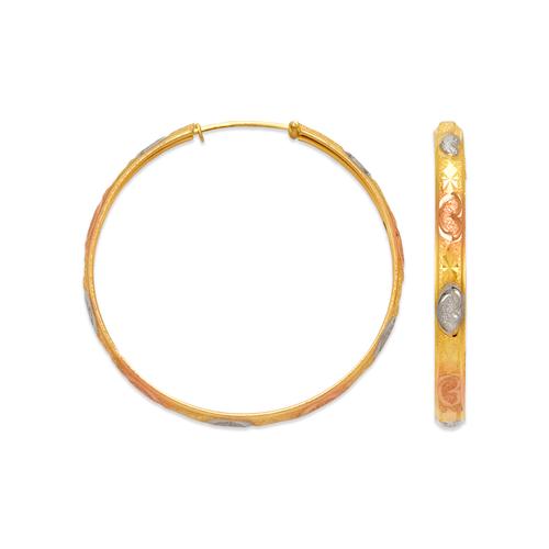 848-014S 4mm Stamping Hoop Earrings
