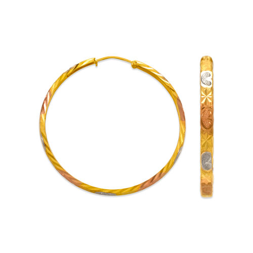 848-023S 3mm Stamping Hoop Earrings