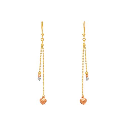 842-001  Dangling Heart Earrings