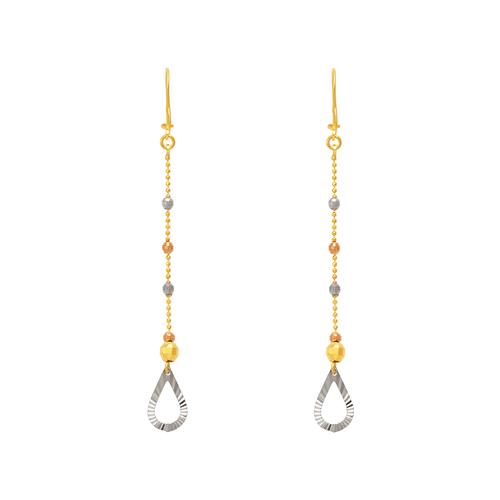 842-004  Dangling Teardrop Earrings