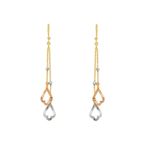 842-007  Dangling Double Spade Earrings