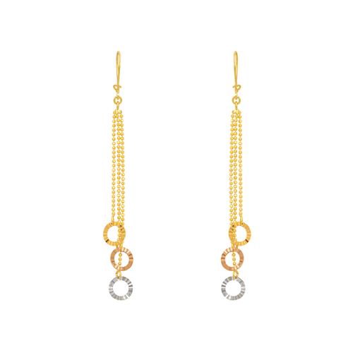 842-008  Dangling Three Ring Earrings