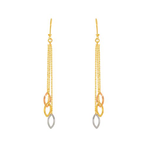 842-009  Dangling Three Marquise Earrings