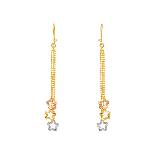 842-011  Dangling Three Star Earrings