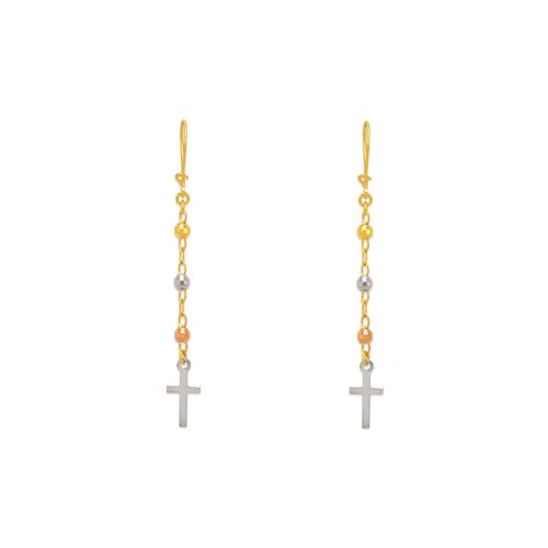 842-013  Dangling Cross Earrings