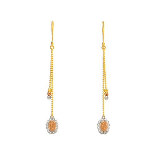 842-014  Dangling Guadalupe Earrings