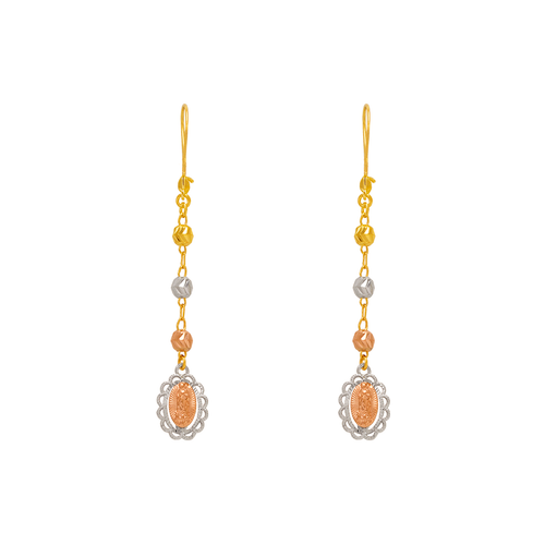 842-015  Dangling Guadalupe Earrings
