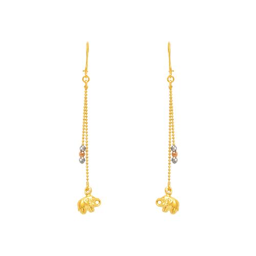 842-016  Dangling Elephant Earrings