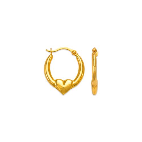 547-352 Hollow Super Light Shrimp Hoop Earrings