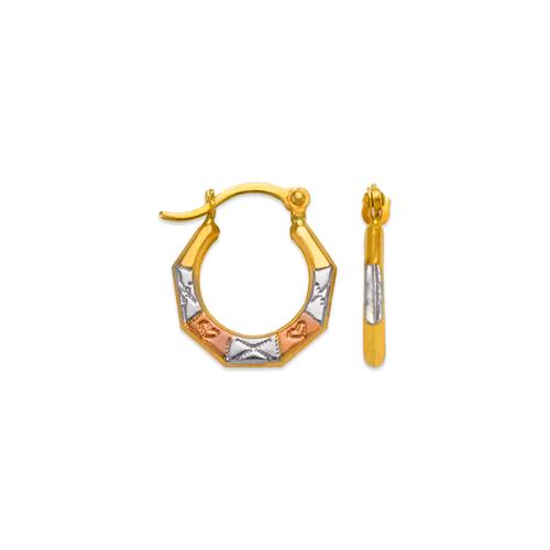 547-354T Hollow Super Light Shrimp Hoop Earrings