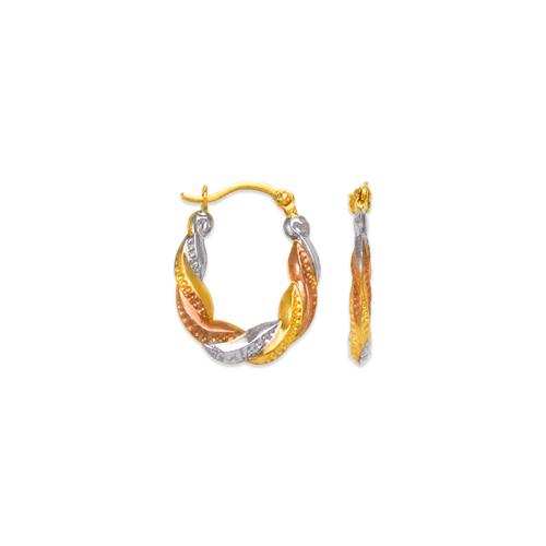 547-355T Hollow Super Light Shrimp Hoop Earrings