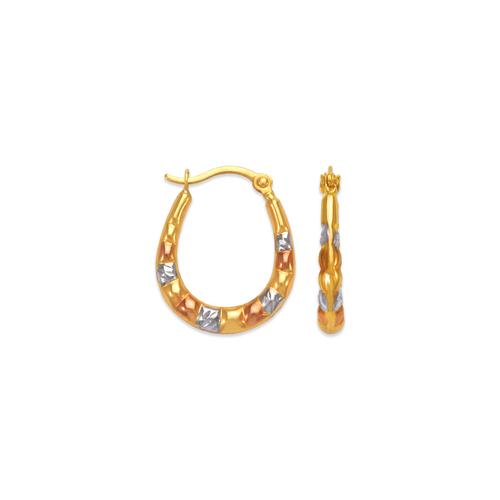 547-356T Hollow Super Light Shrimp Hoop Earrings