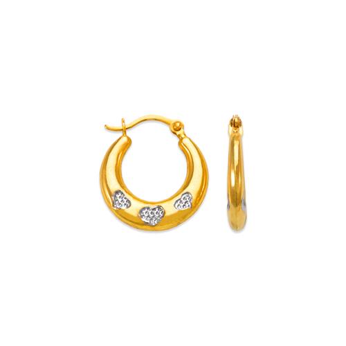 547-357Z Hollow Super Light Shrimp Hoop Earrings