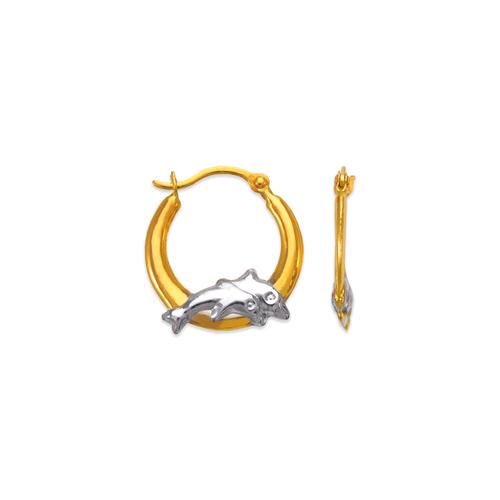 547-358Z Hollow Super Light Shrimp Hoop Earrings