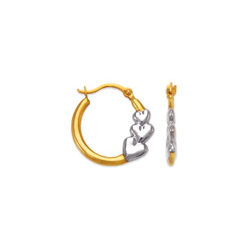 547-359Z Hollow Super Light Shrimp Hoop Earrings