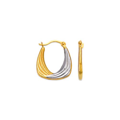547-360Z Hollow Super Light Shrimp Hoop Earrings