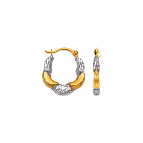 547-361Z Hollow Super Light Shrimp Hoop Earrings