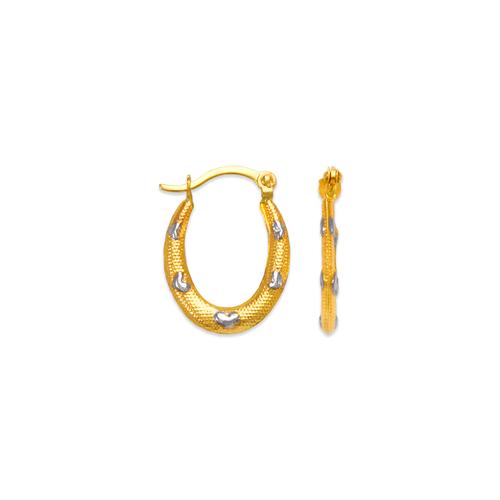 547-363Z Hollow Super Light Shrimp Hoop Earrings