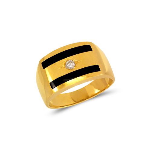 576-316 Men's Full Cut Onyx CZ Ring