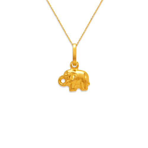 166-006 Baby Elephant Charm Pendant