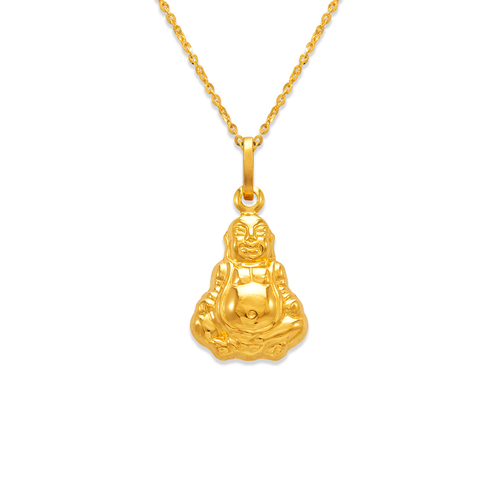 166-044 16mm Buddha Charm Pendant