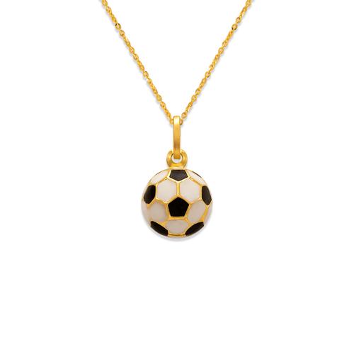 166-305 10mm Soccer Ball Enamel Charm Pendant