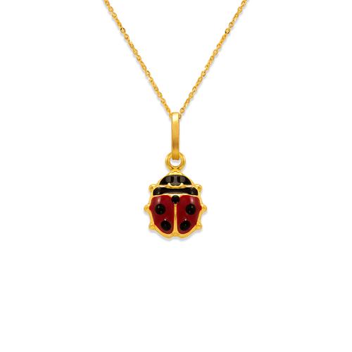 166-308 10mm Ladybug Enamel Charm Pendant