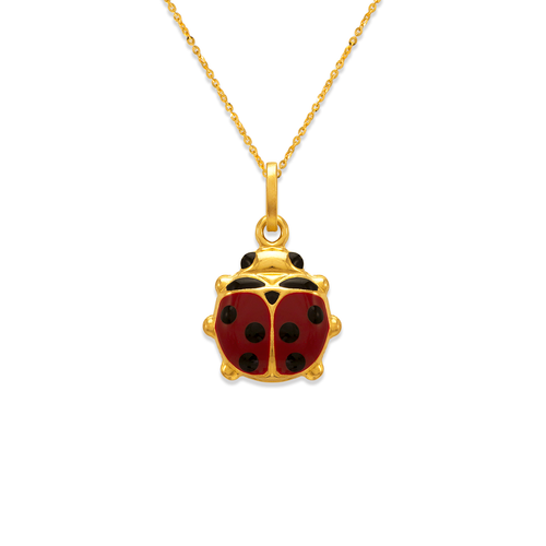 166-309 13mm Ladybug Enamel Charm Pendant
