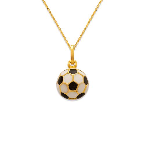 166-306 11mm Soccer Ball Enamel Charm Pendant