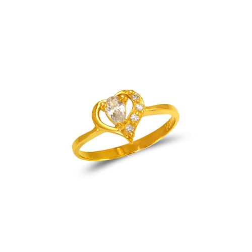 673-008 Ladies Heart CZ Ring
