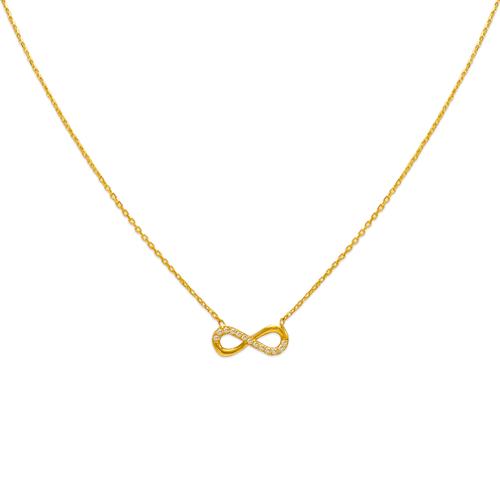 253-001 Fancy Infinity CZ Necklace
