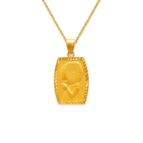 562-215 Satin Communion Boy Pendant