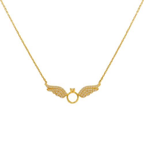 253-004 Fancy Wing CZ Necklace