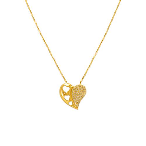 253-005 Fancy Heart CZ Necklace