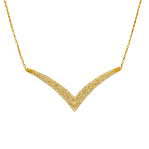 253-101 Fancy Chandelier CZ Necklace