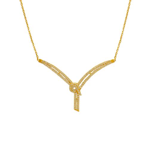 253-102 Fancy Chandelier CZ Necklace