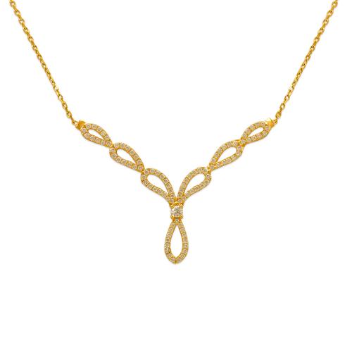 253-105 Fancy Chandelier CZ Necklace
