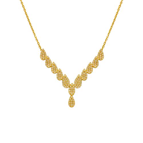 253-108 Fancy Chandelier CZ Necklace