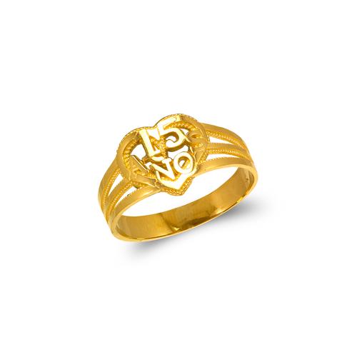678-009 Ladies 15 Anos Filigree Ring