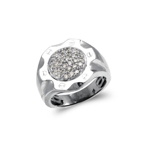 679-001W Men's White Cluster Ring