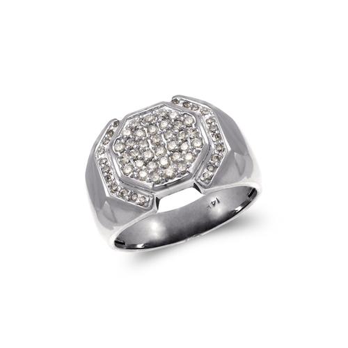 679-008W Men's White Cluster Ring