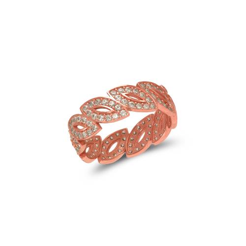 273-201R Ladies Fancy Rose CZ Ring