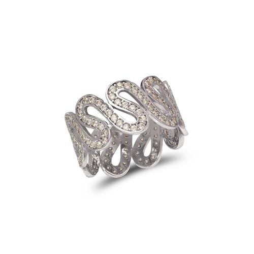 273-204W Ladies Fancy White CZ Ring