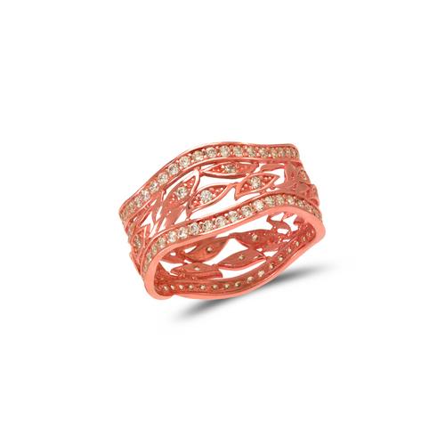 273-206R Ladies Fancy Rose CZ Ring