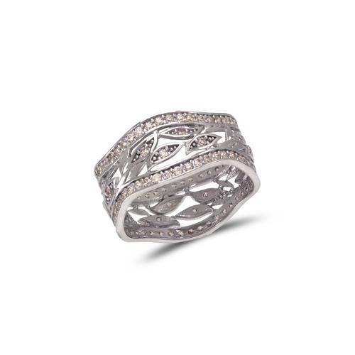 273-206W Ladies Fancy White CZ Ring