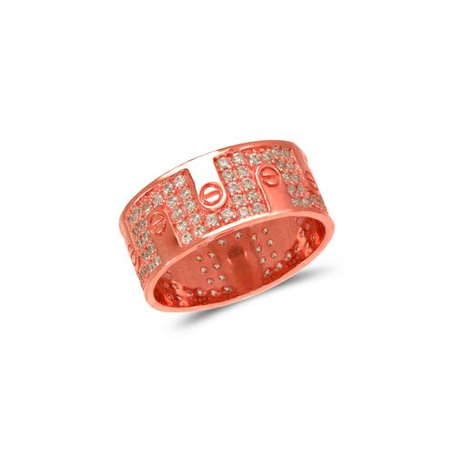 273-207R Ladies Fancy Rose CZ Ring