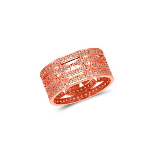 273-208R Ladies Fancy Rose CZ Ring