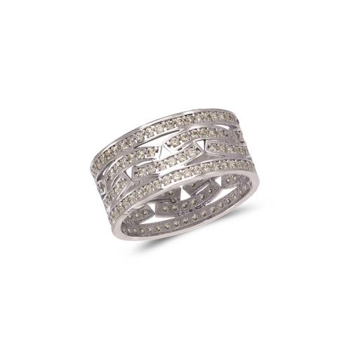 273-208W Ladies Fancy White CZ Ring
