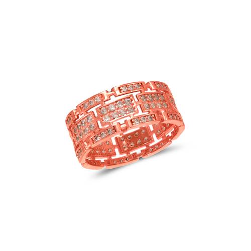 273-209R Ladies Fancy Rose CZ Ring