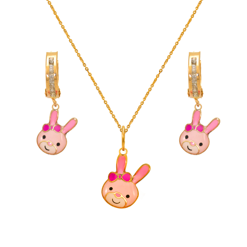 347-908S Bunny Enamel Set